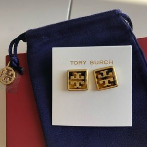 Brand new Tory Burch resin earrings
